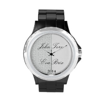 Reloj del brazo de los hombres para la celebración