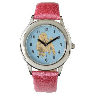 Reloj del brillo del caniche estándar