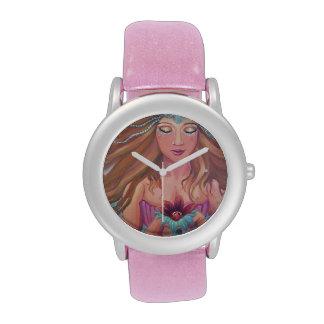 Reloj del brillo del deseo de la sirena