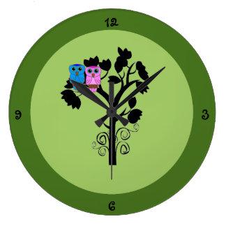 Reloj del búho - decoración temática de la