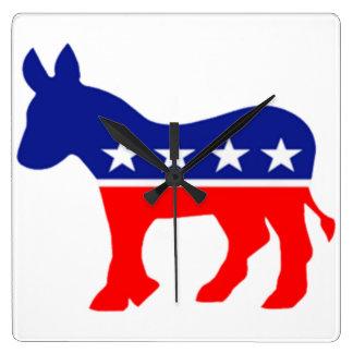 reloj del burro del demócrata