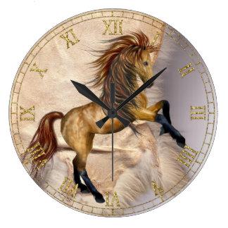Reloj del caballo y de pared de la zalea