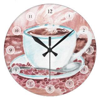 Reloj del café de la acuarela
