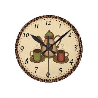 Reloj del café de la cocina