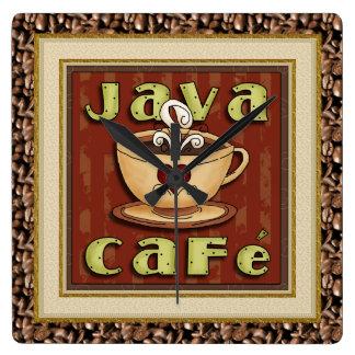 Reloj del café del café de Java