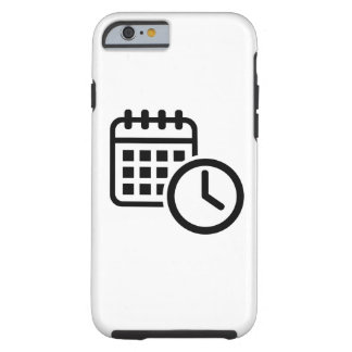 Reloj del calendario funda para iPhone 6 tough