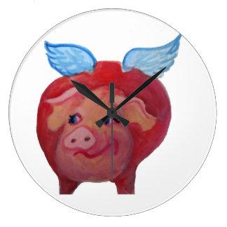reloj del cerdo del vuelo