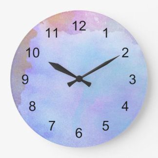 Reloj del color de agua/sitio púrpuras del