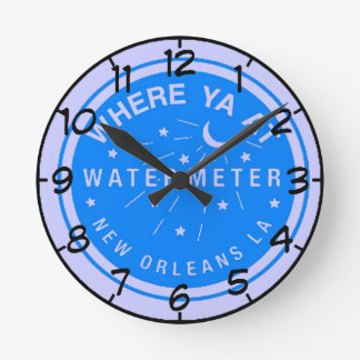 Reloj del contador del agua azul de New Orleans