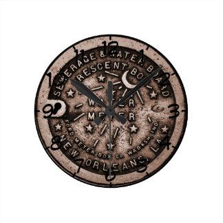 Reloj del contador del agua de New Orleans