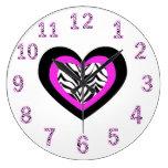 Reloj del corazón de la cebra