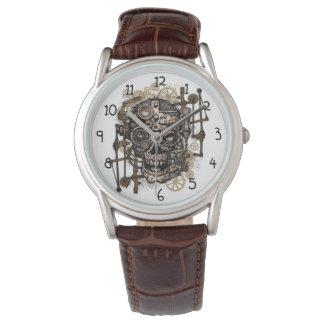 Reloj del cráneo de Steampunk