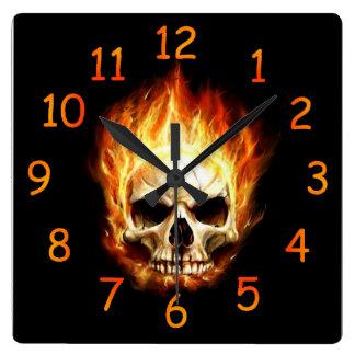Reloj del cráneo del fuego