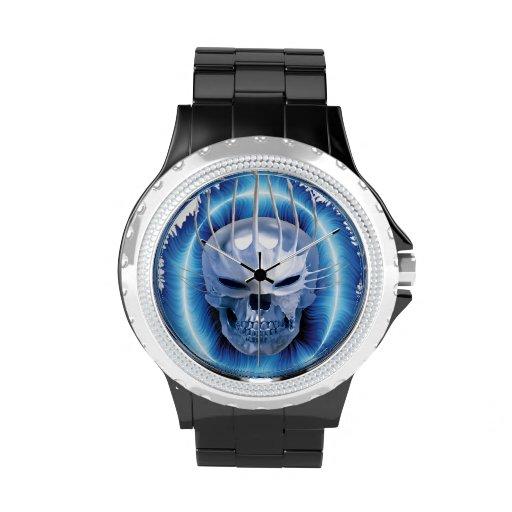 Reloj del cráneo del hielo