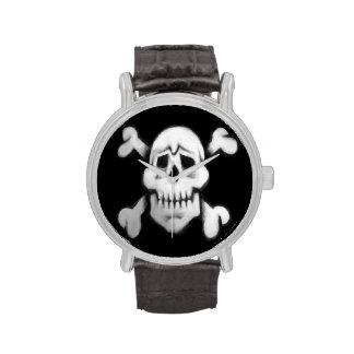 reloj del cráneo del pirata