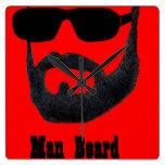 Reloj del cuadrado de la barba del hombre por da'v