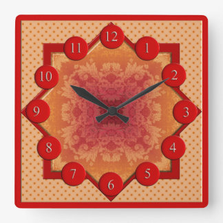 Reloj del cuadrado de la estrella del brocado