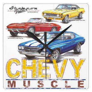Reloj del cuadrado del músculo de Chevy