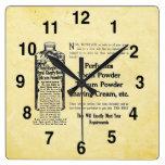 Reloj del cuarto de baño de la apariencia vintage