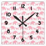 Reloj del cuarto de niños de la niña del elefante