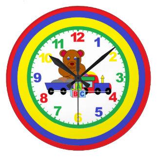 Reloj del cuarto de niños de los niños con números
