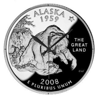 Reloj del cuarto del estado de Alaska