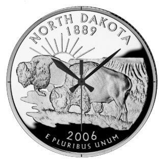 Reloj del cuarto del estado de Dakota del Norte