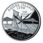 Reloj del cuarto del estado de Rhode Island