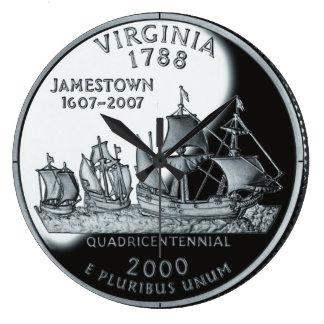 Reloj del cuarto del estado de Virginia