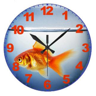 Reloj del cuenco del GoldFish con números