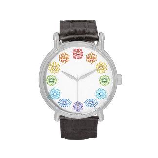 Reloj del cuero de la energía de Chakra