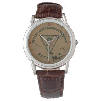 Reloj del cuero de la sección D