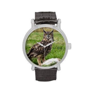 Reloj del cuero del búho de Eagle