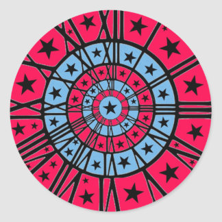 Reloj del Dartboard Pegatina Redonda