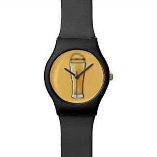 Reloj del _del amante de la cerveza
