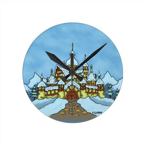 reloj del día de fiesta del northpole