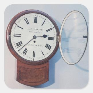 Reloj del dial del tronco, Londres, 1850 Pegatina Cuadrada