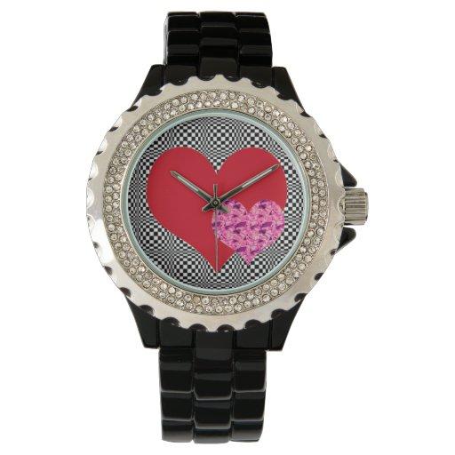 Reloj del diamante artificial de dos Hearts~