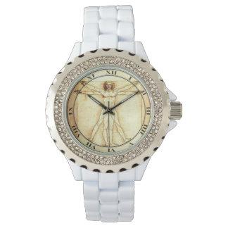 Reloj del diamante artificial del hombre de