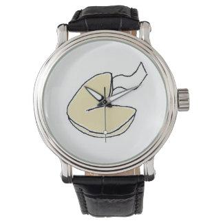 Reloj del dibujo animado de la galleta de la