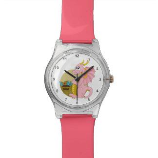 Reloj del dibujo animado del dragón
