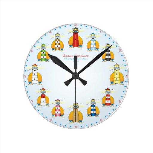 Reloj del dibujo animado del faro