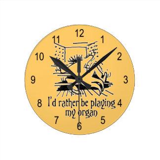 Reloj del dibujo animado del órgano