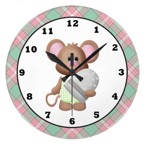 Reloj del dibujo animado del ratón del sitio de co