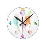 Reloj del dibujo de creyón