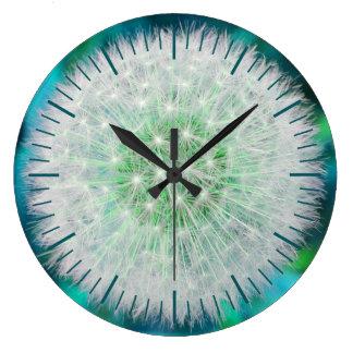 Reloj del diente de león de la turquesa, con