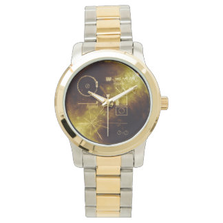 Reloj del disco de oro del viajero