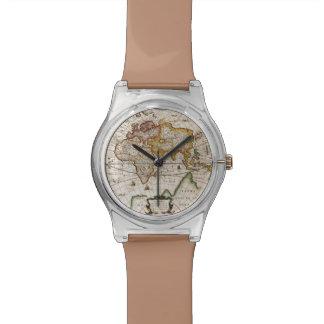 Reloj del diseñador del Historia-amante del mapa