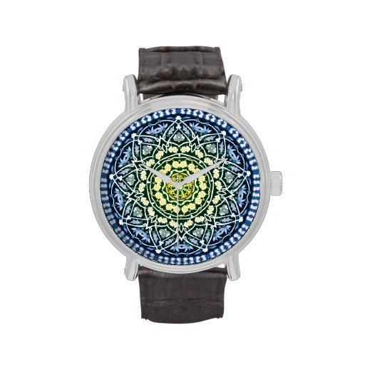 Reloj del diseño de la estrella de Alhambra