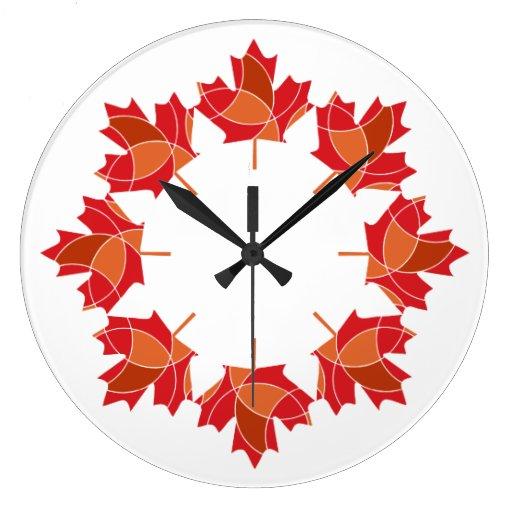 reloj del diseño de la hoja de arce